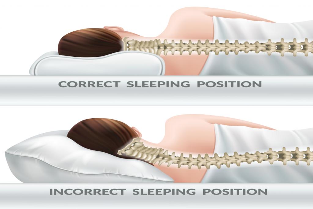 گردن درد هنگام خواب